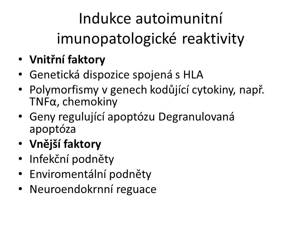 Indukce autoimunitní imunopatologické reaktivity