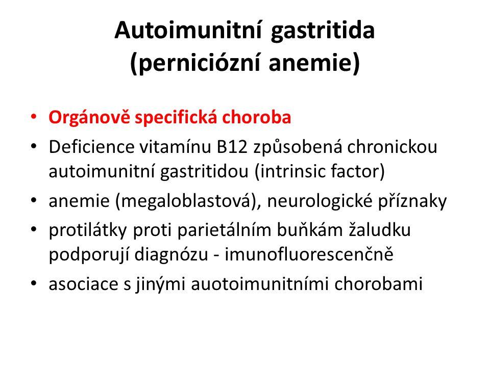 Autoimunitní gastritida (perniciózní anemie)