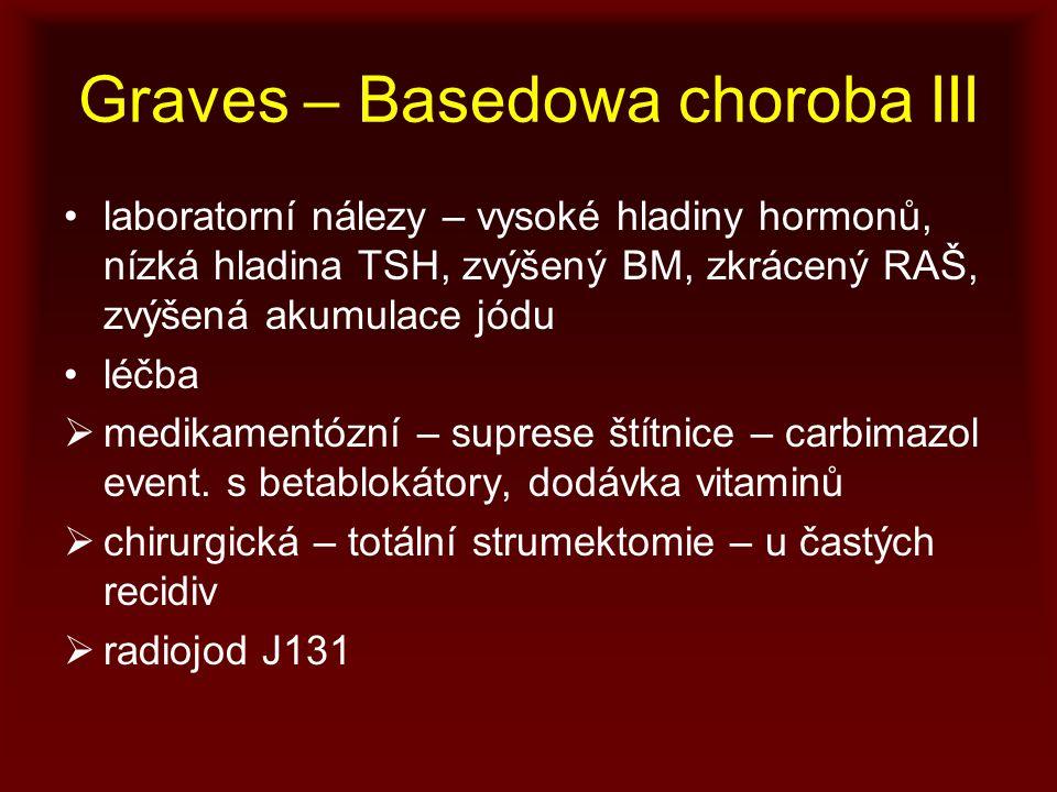 Graves – Basedowa choroba III