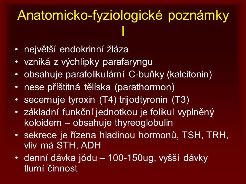 Anatomicko-fyziologické poznámky I