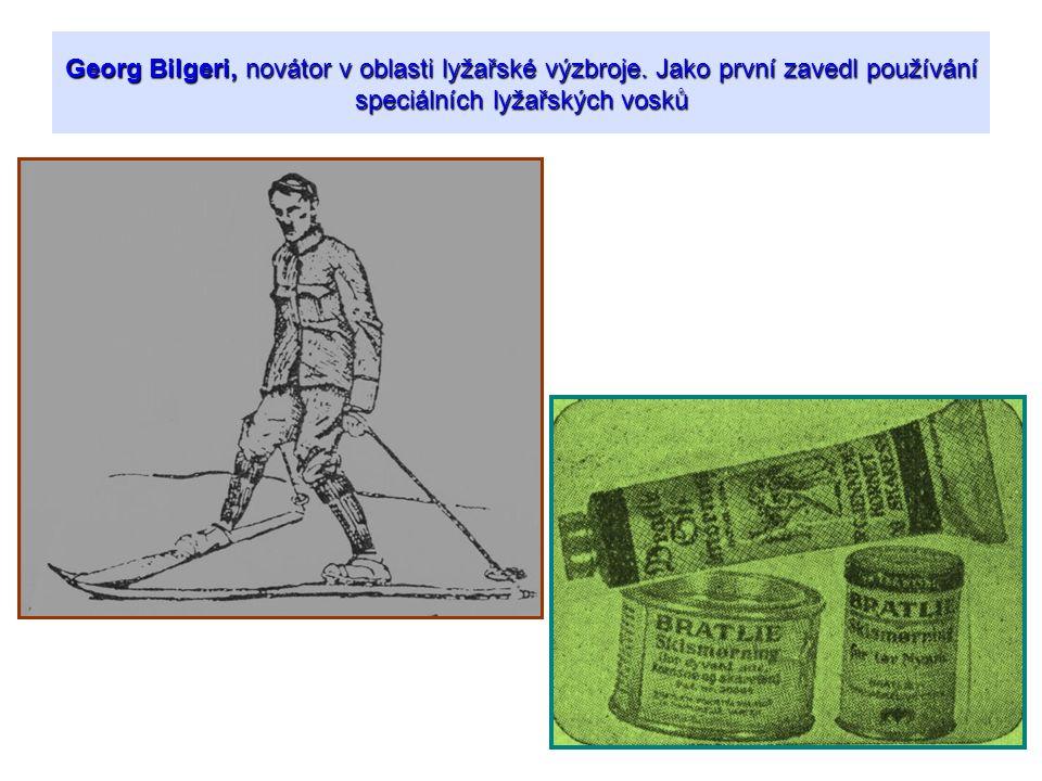 Georg Bilgeri, novátor v oblasti lyžařské výzbroje