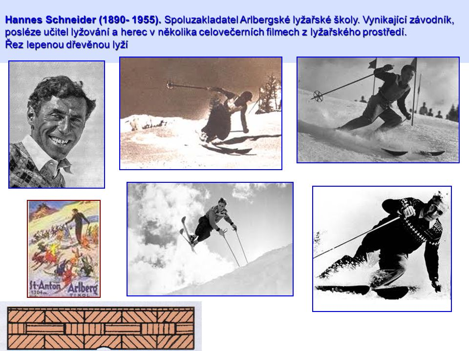 Hannes Schneider (1890- 1955). Spoluzakladatel Arlbergské lyžařské školy.