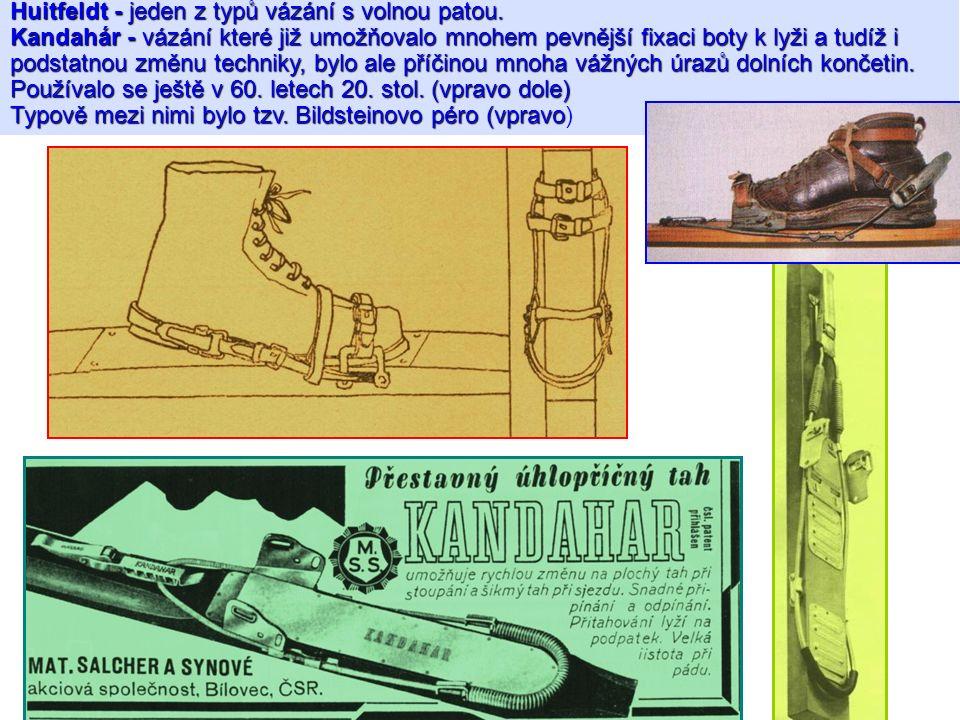 Huitfeldt - jeden z typů vázání s volnou patou