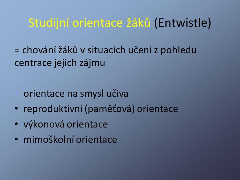 Studijní orientace žáků (Entwistle)