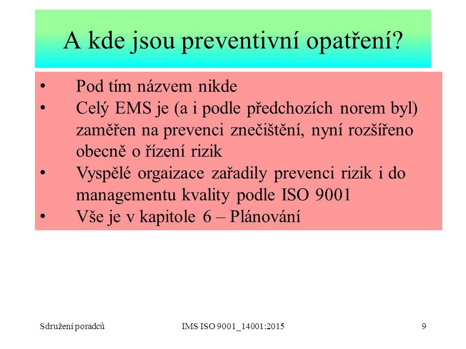 A kde jsou preventivní opatření
