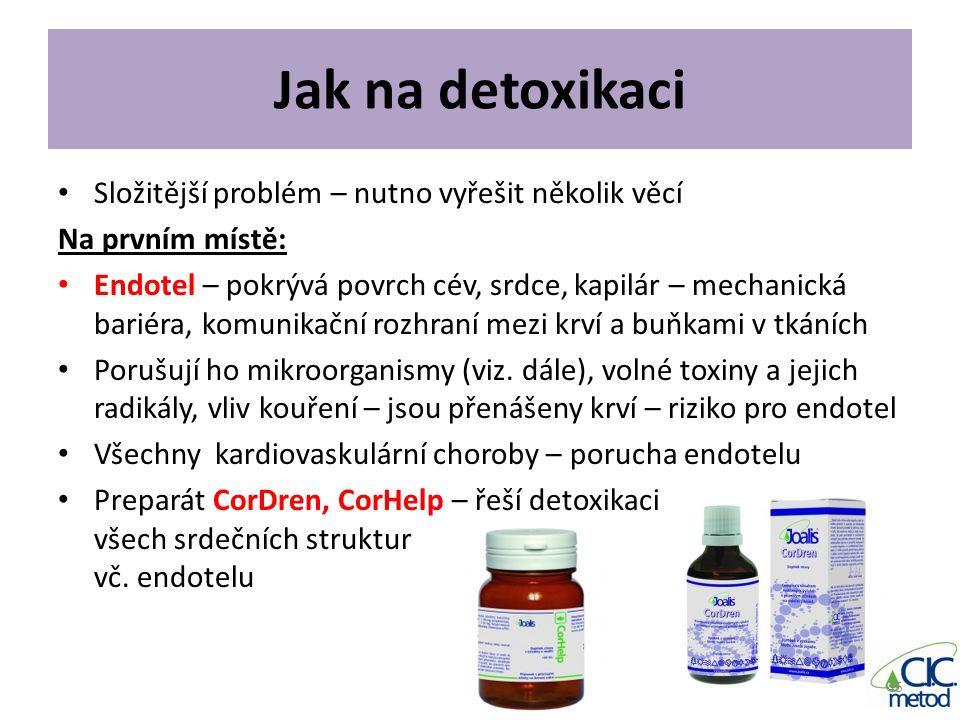 Jak na detoxikaci Složitější problém – nutno vyřešit několik věcí