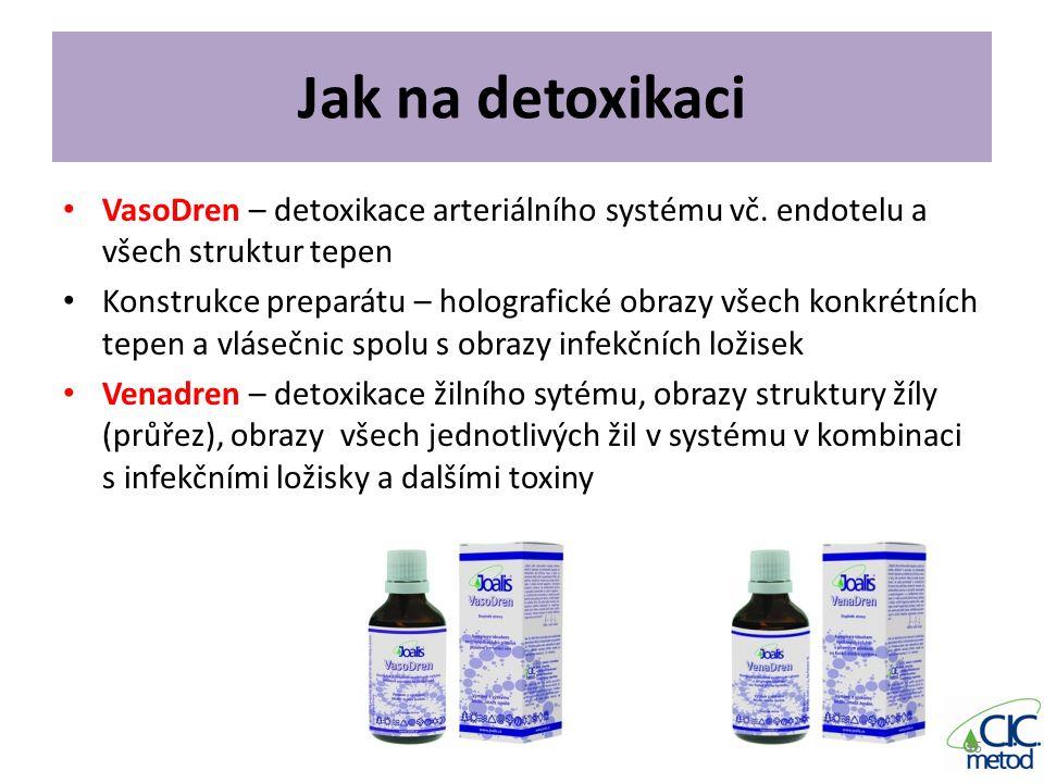 Jak na detoxikaci VasoDren – detoxikace arteriálního systému vč. endotelu a všech struktur tepen.