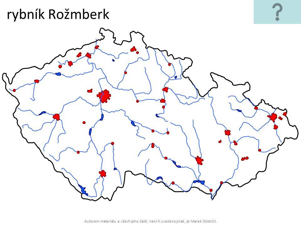 rybník Rožmberk Autorem materiálu a všech jeho částí, není-li uvedeno jinak, je Marek Odstrčil.