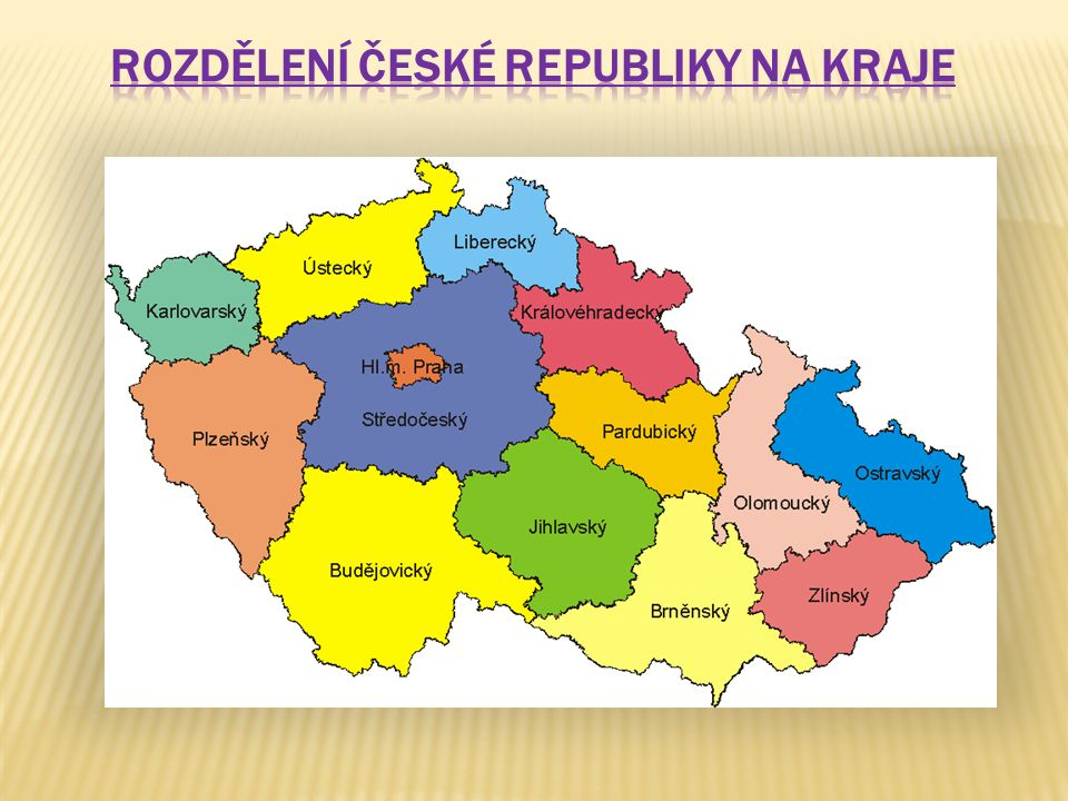 Rozdělení České republiky na kraje