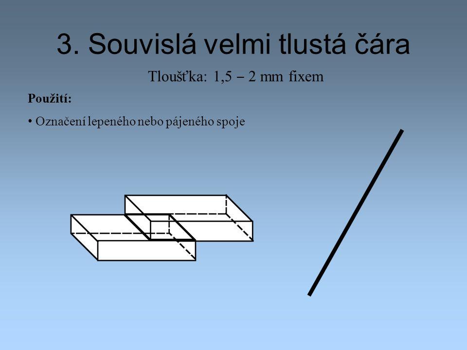 3. Souvislá velmi tlustá čára