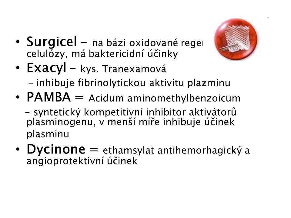 Exacyl – kys. Tranexamová PAMBA = Acidum aminomethylbenzoicum