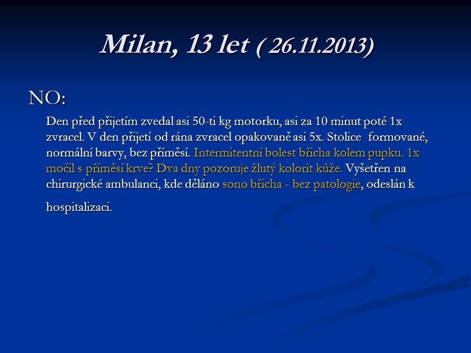 Milan, 13 let ( 26.11.2013) NO:
