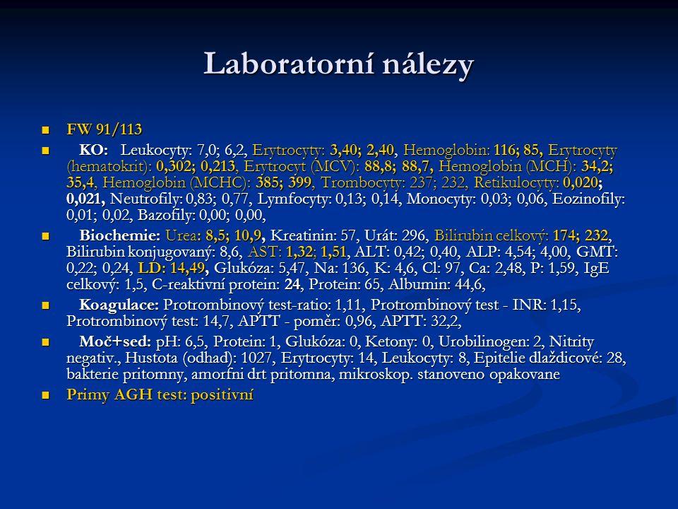 Laboratorní nálezy FW 91/113