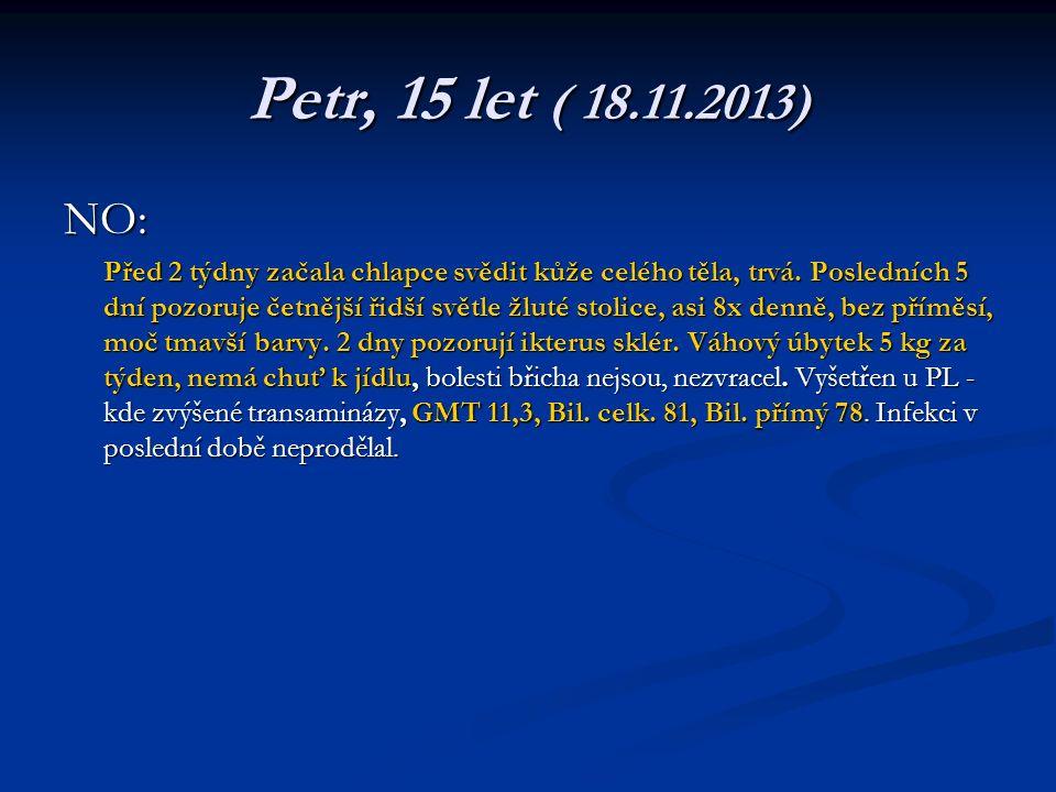 Petr, 15 let ( 18.11.2013) NO: