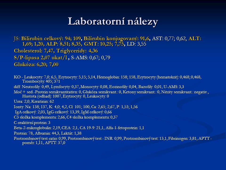 Laboratorní nálezy