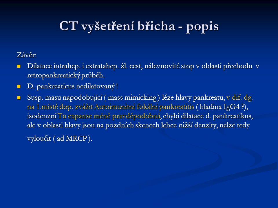 CT vyšetření břicha - popis