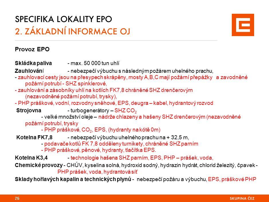 Specifika lokality TDK 2. základní informace oj