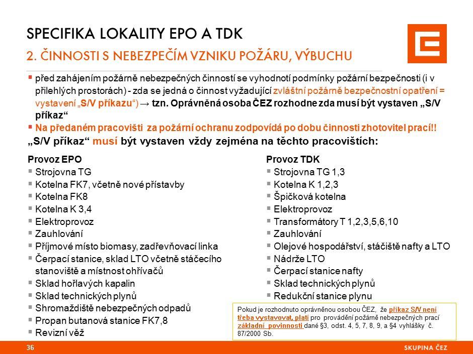 SPECIFIKA LOKALITY EPO A TDK 2