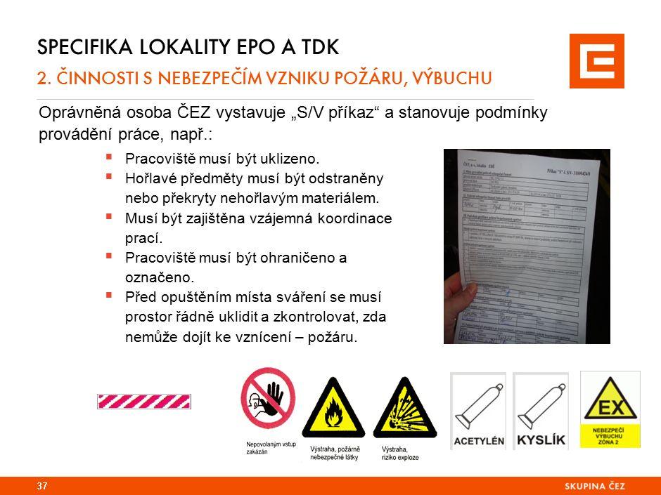 Specifika lokality EPO 2. Požární evakuační plán