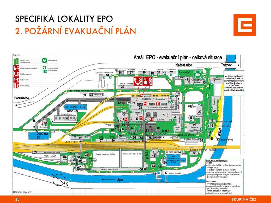 Specifika lokality TDK 2. Požární evakuační plán