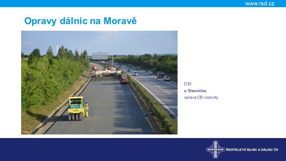 Opravy dálnic na Moravě
