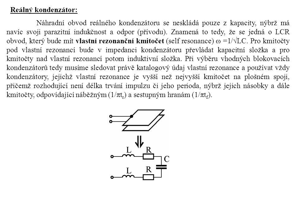 Reálný kondenzátor: