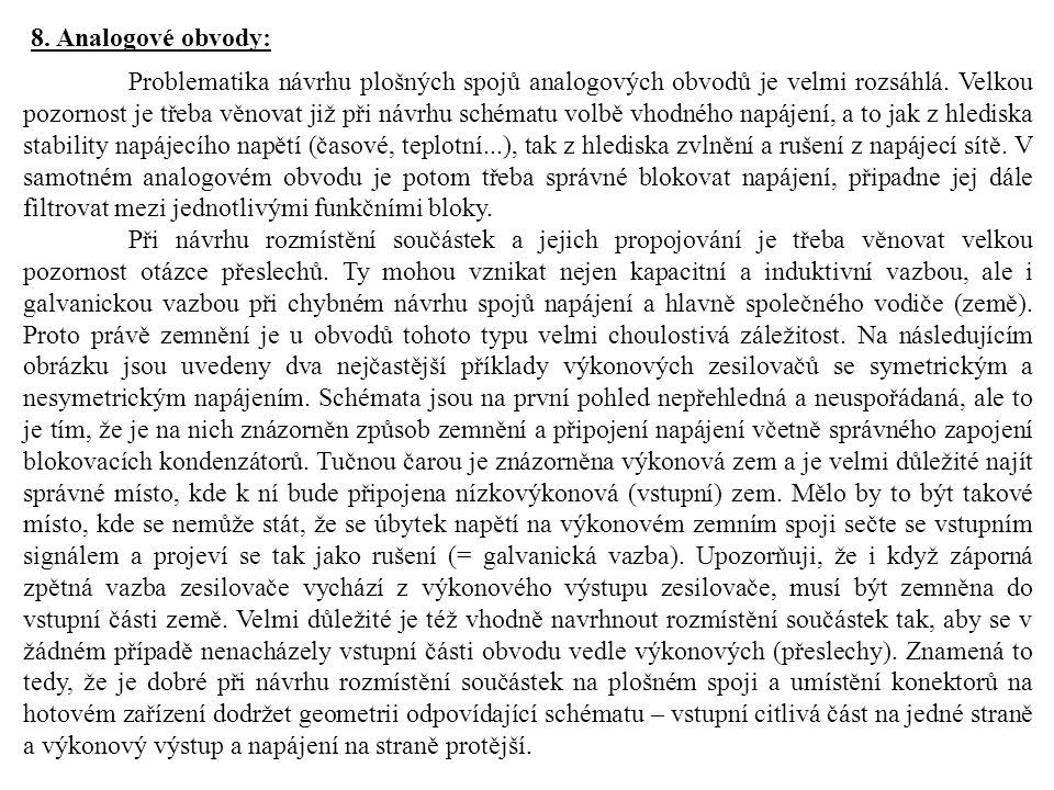 8. Analogové obvody: