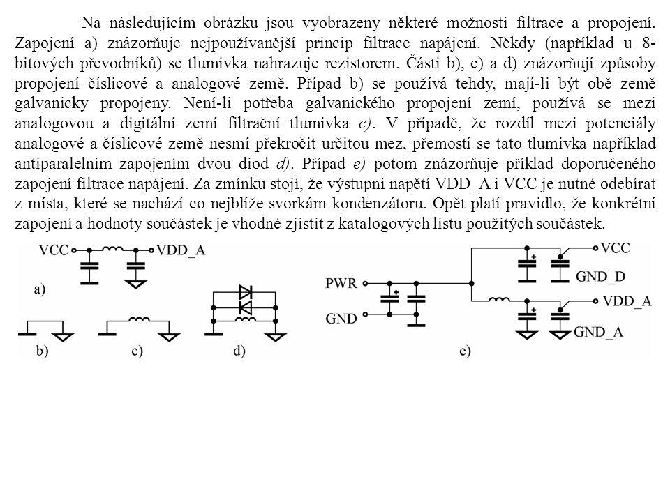 Na následujícím obrázku jsou vyobrazeny některé možnosti filtrace a propojení.