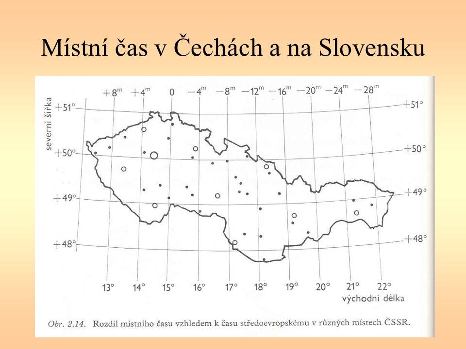 Místní čas v Čechách a na Slovensku