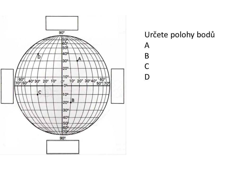 Určete polohy bodů A B C D