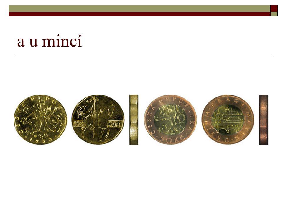 a u mincí