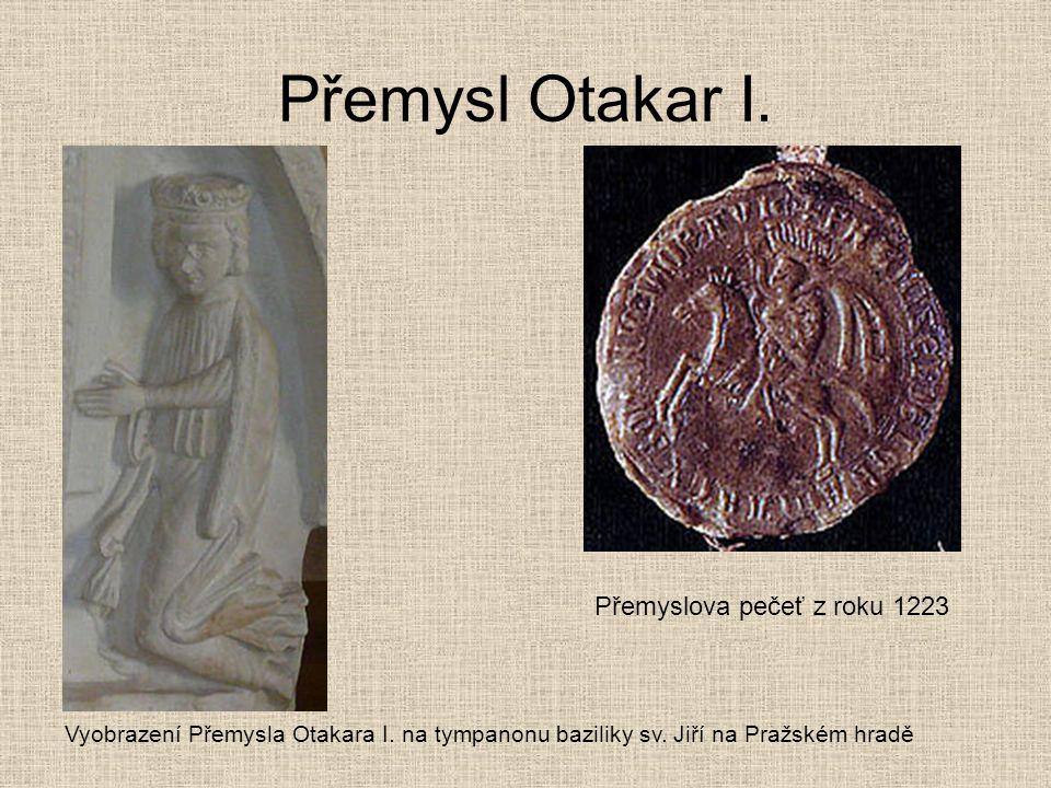 Přemysl Otakar I. Přemyslova pečeť z roku 1223