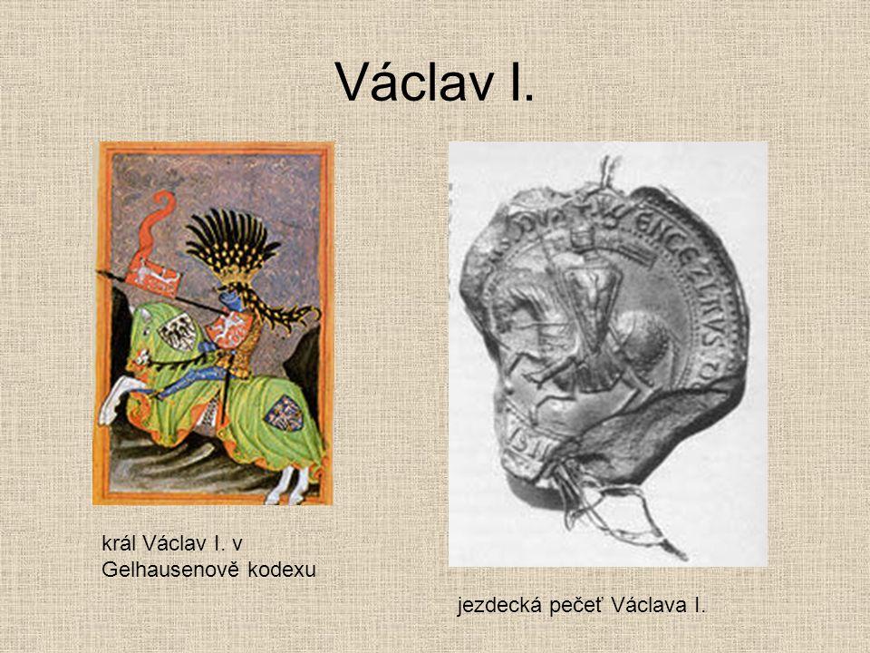 Václav I. král Václav I. v Gelhausenově kodexu