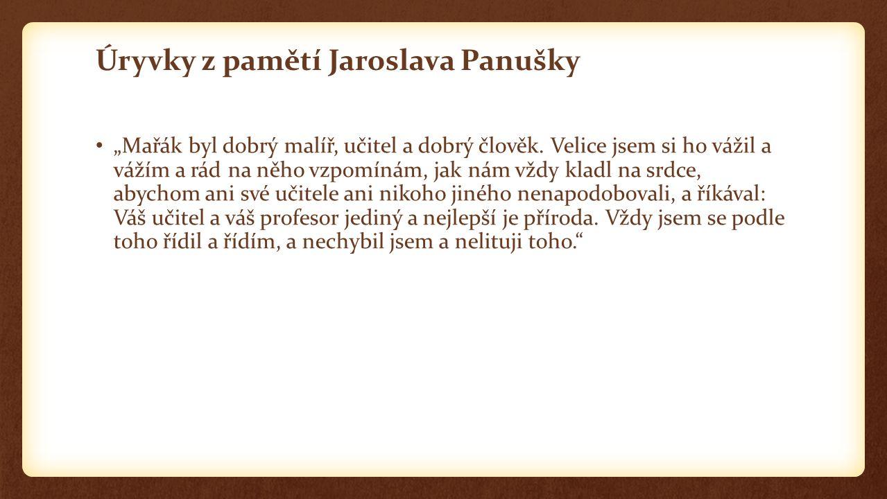 Úryvky z pamětí Jaroslava Panušky