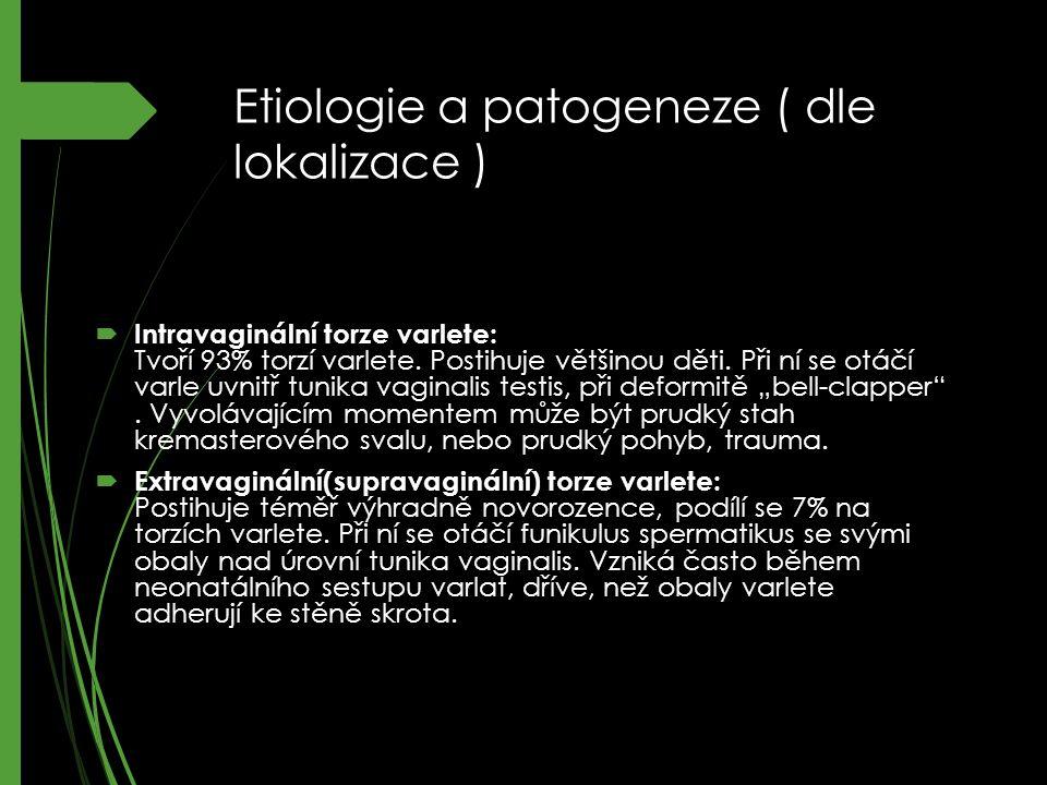 Etiologie a patogeneze ( dle lokalizace )