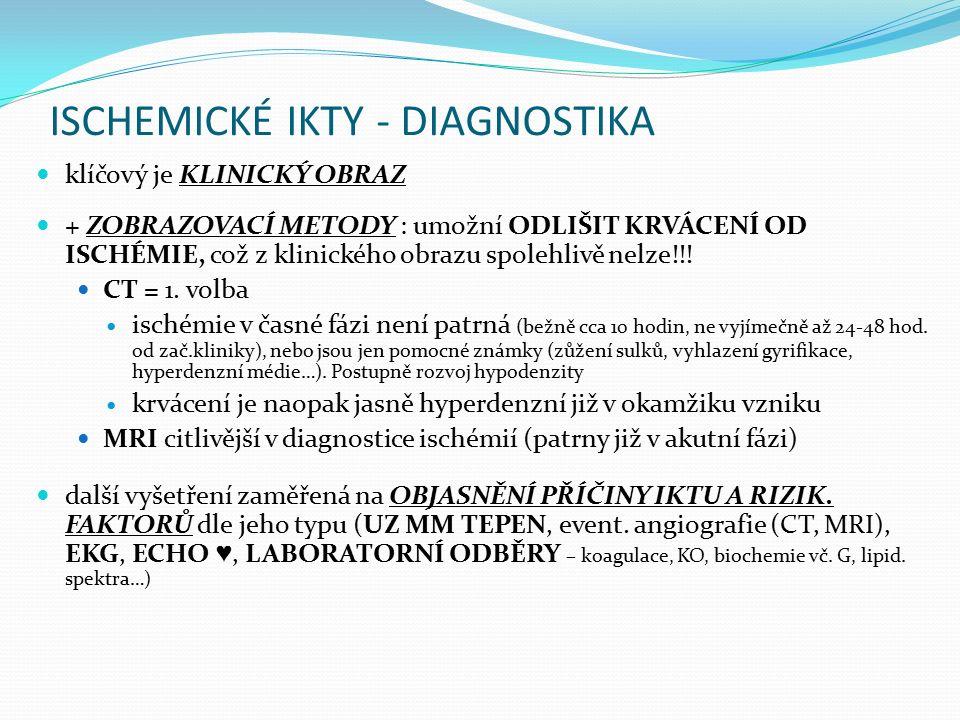 ISCHEMICKÉ IKTY - DIAGNOSTIKA