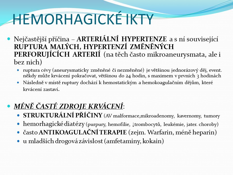 HEMORHAGICKÉ IKTY