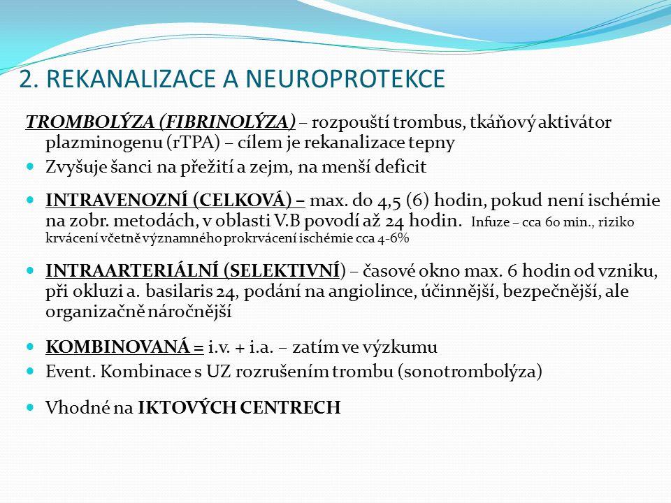 2. REKANALIZACE A NEUROPROTEKCE