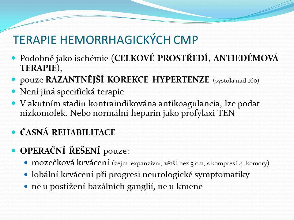 TERAPIE HEMORRHAGICKÝCH CMP
