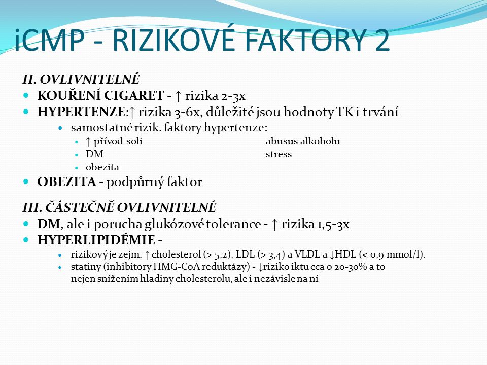iCMP - RIZIKOVÉ FAKTORY 2