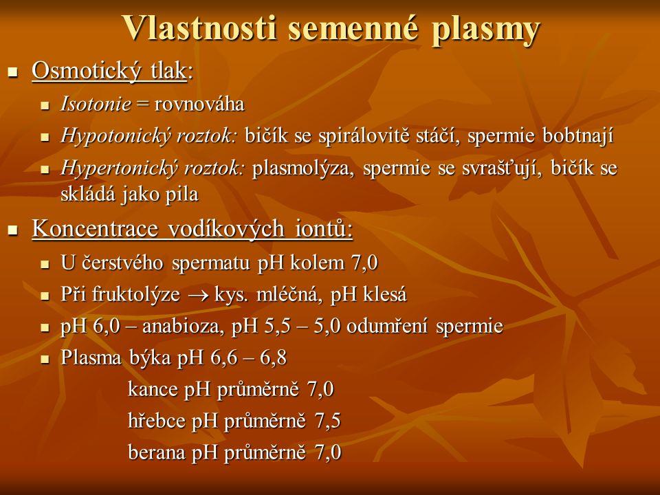 Vlastnosti semenné plasmy