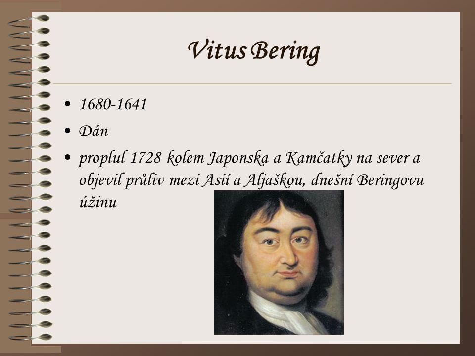 Vitus Bering 1680-1641. Dán.