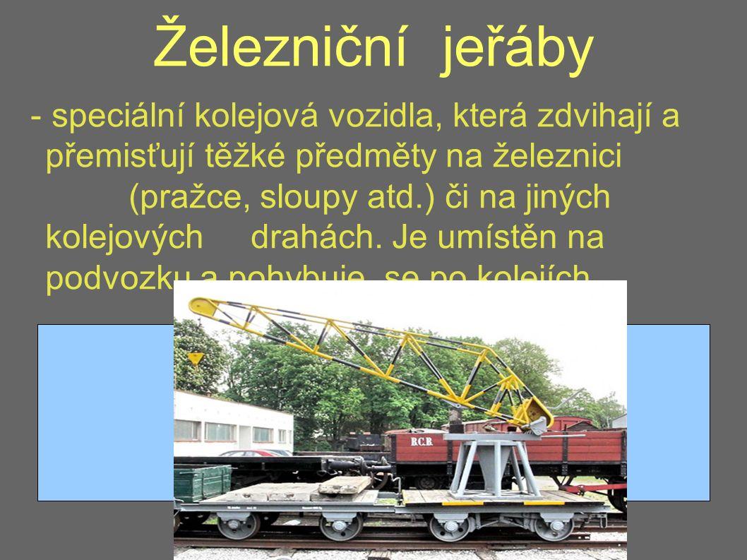Železniční jeřáby