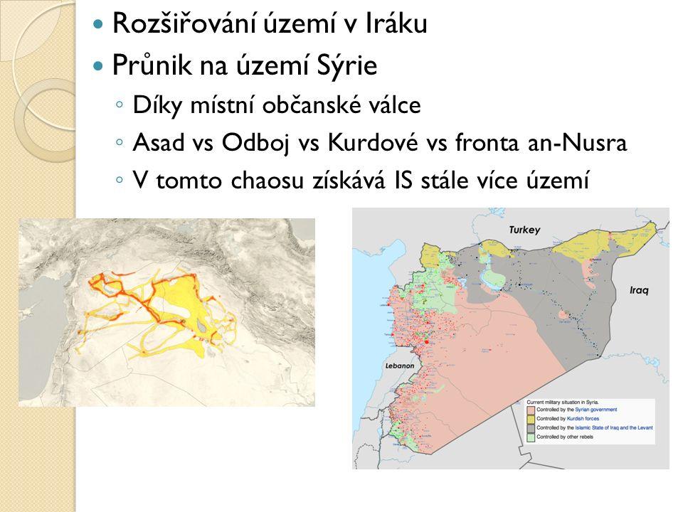 Rozšiřování území v Iráku Průnik na území Sýrie