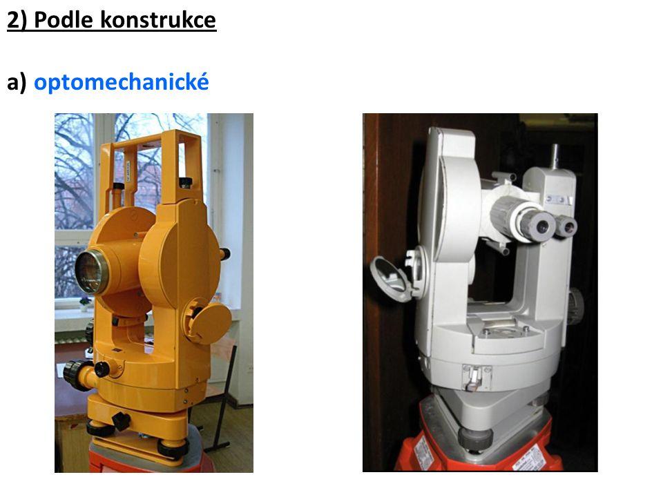 2) Podle konstrukce a) optomechanické 16