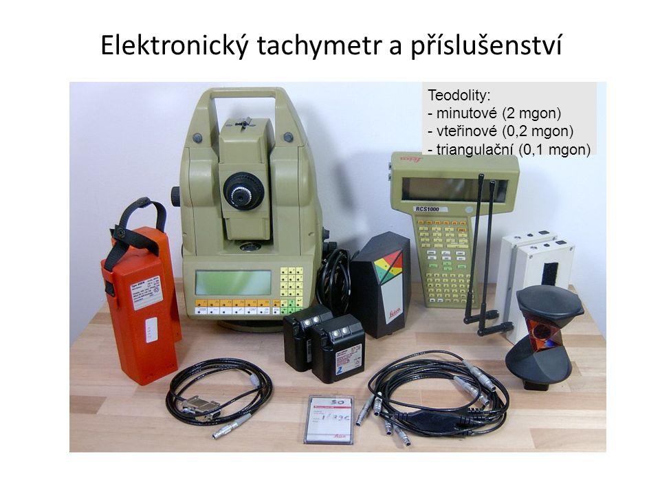 Elektronický tachymetr a příslušenství