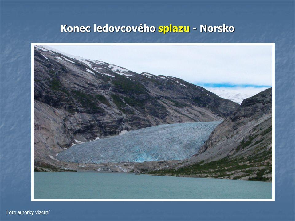 Konec ledovcového splazu - Norsko