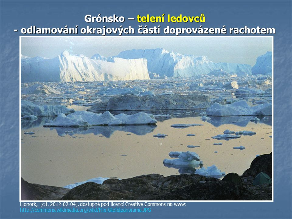 Grónsko – telení ledovců