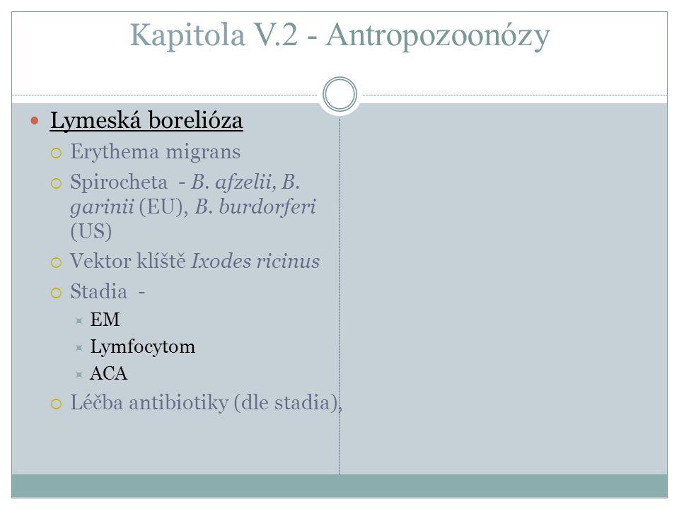Kapitola V.2 - Antropozoonózy