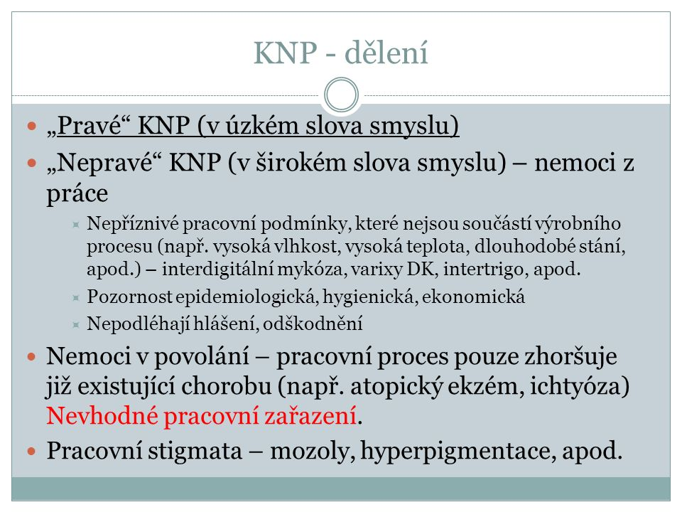 """KNP - dělení """"Pravé KNP (v úzkém slova smyslu)"""